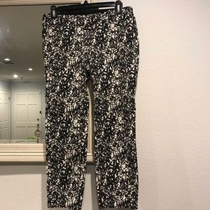 Ann Taylor Chelsea Cropped Confetti Pants